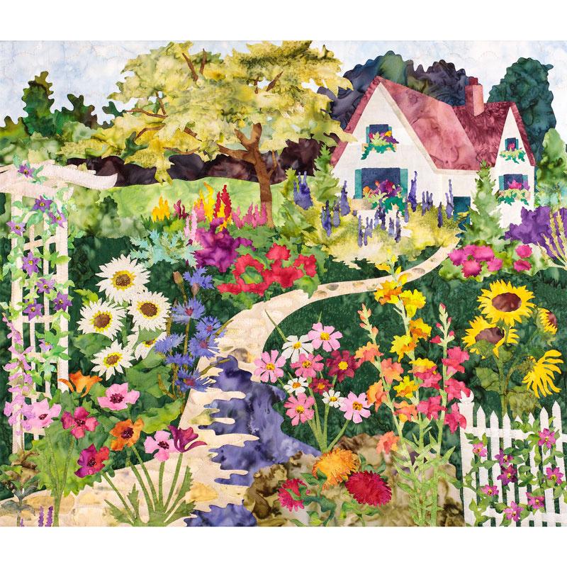 Fabric - Ka-Bloom! Art Print Panel