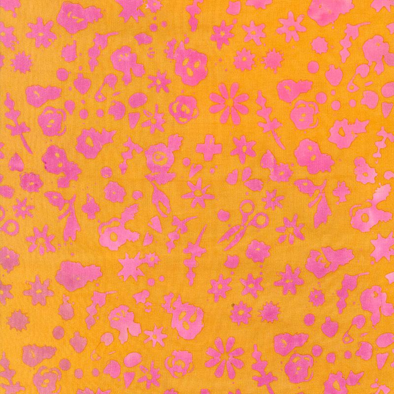 Stitched - Floral - Marigold