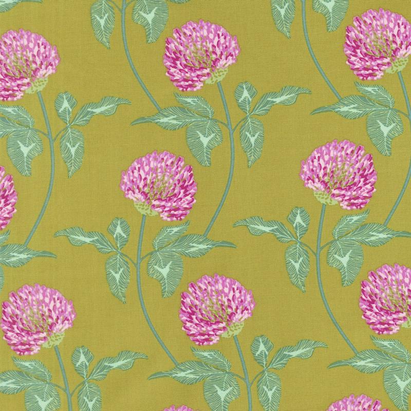 PWAM004 ARMYX English Summer Leaning Army Yardage by Anna Maria Horner for FreeSpirit Fabrics. 100% cotton 43 wide