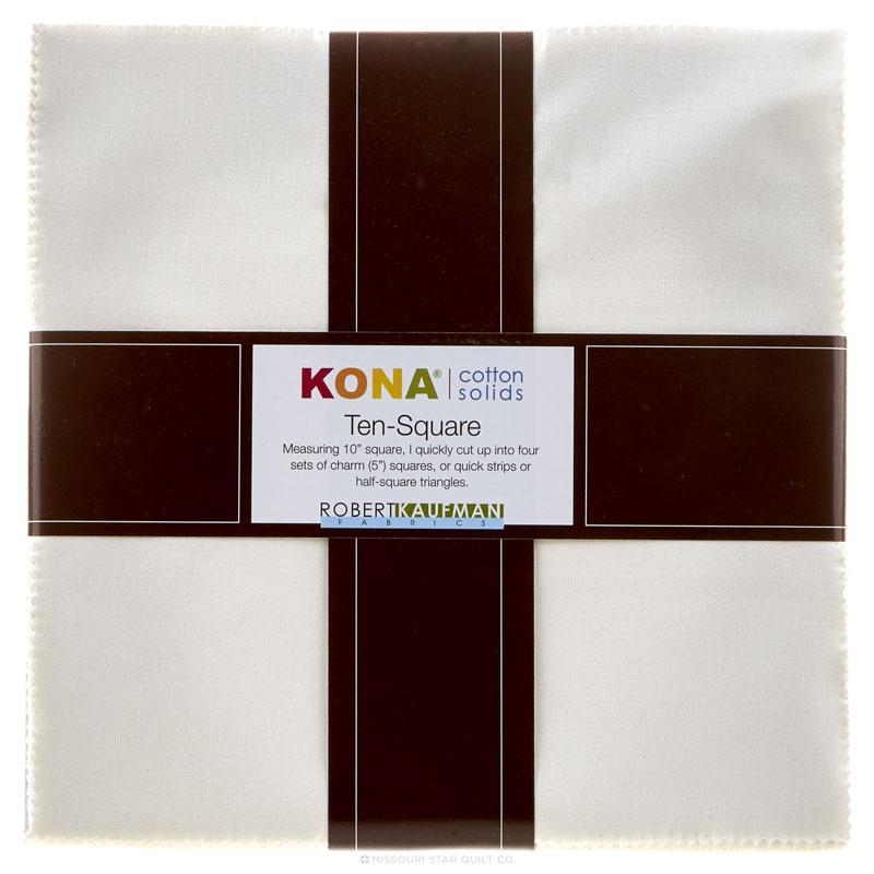 Kona Cotton - Snow Ten Squares