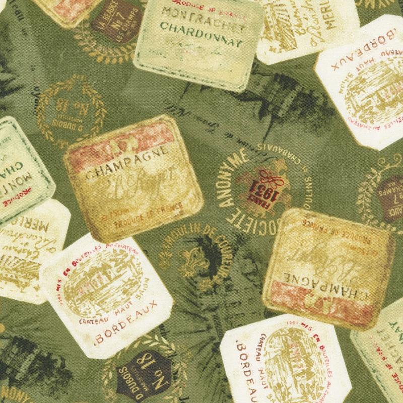 Uncorked - Wine Labels Green Yardage