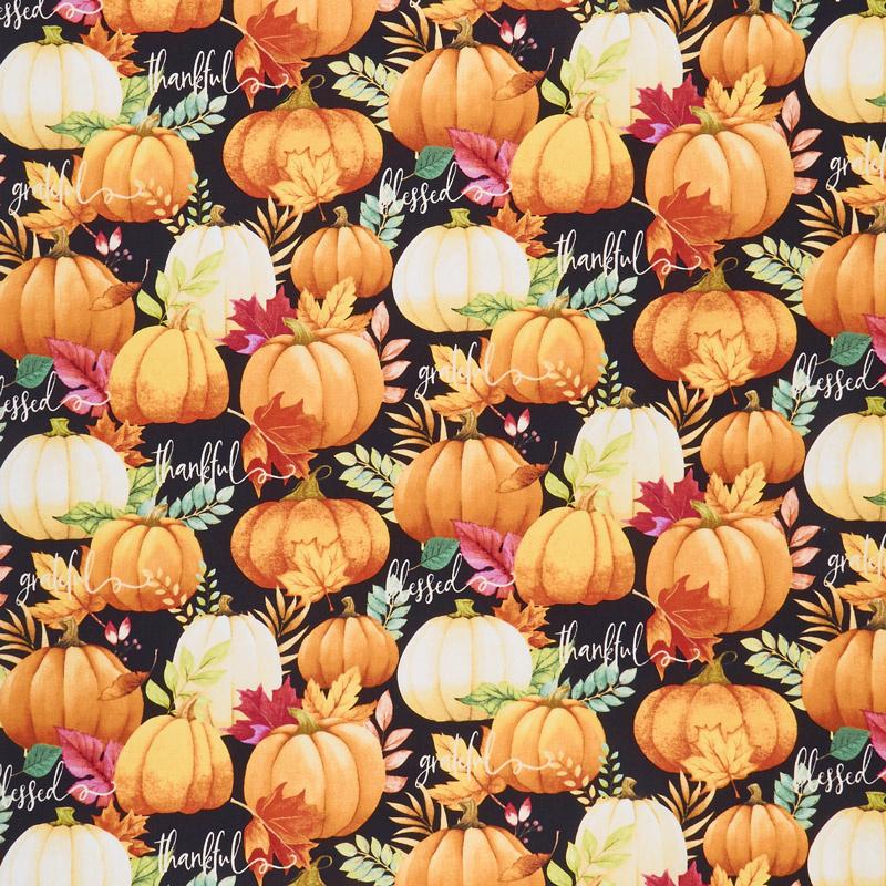Happy Gatherings - Pumpkin Allover Black