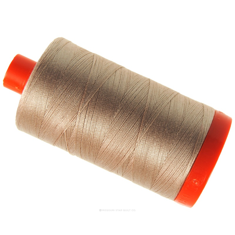 Aurifil Cotton Mako 50 wt Thread 1422 yards  - Beige #2314