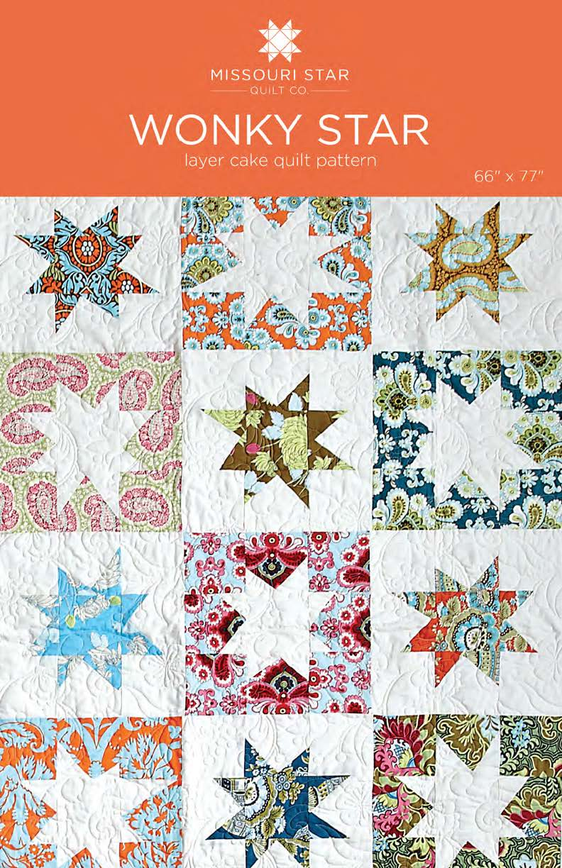 Wonky Star Quilt Pattern by MSQC