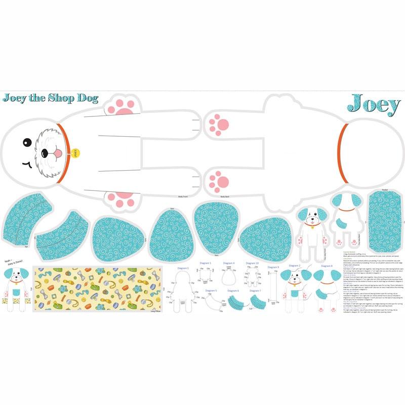 Joey The Shop Dog Aqua Panel