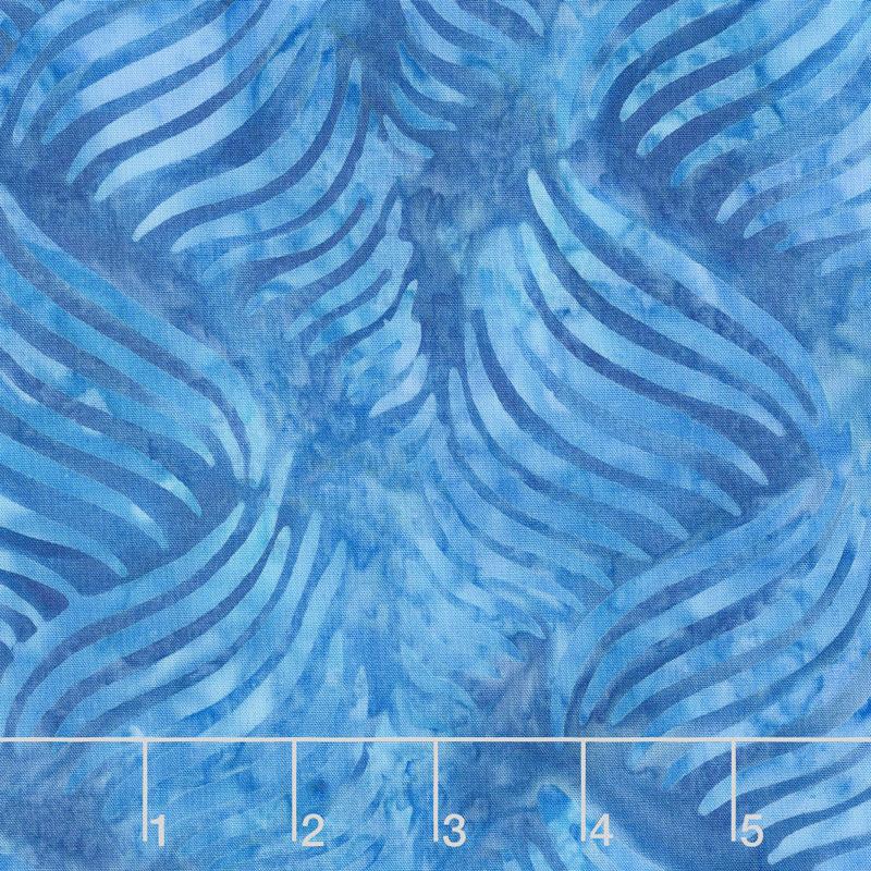 Malam Batiks Jinny Beyer Medium Blue Ribbon