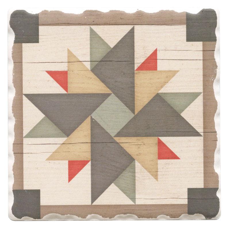 Barn Quilts Coaster - Windmill