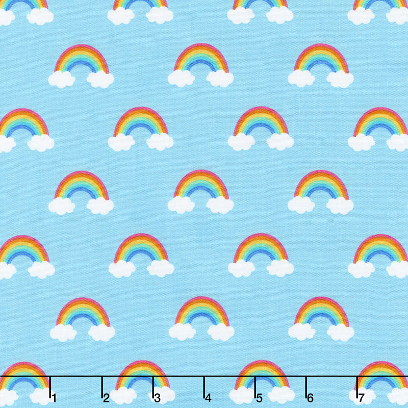 Happy Little Unicorns - Rainbow Blue