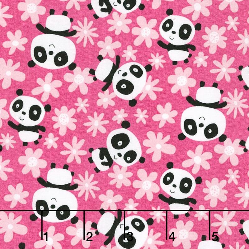 Pandas Field of Flowers