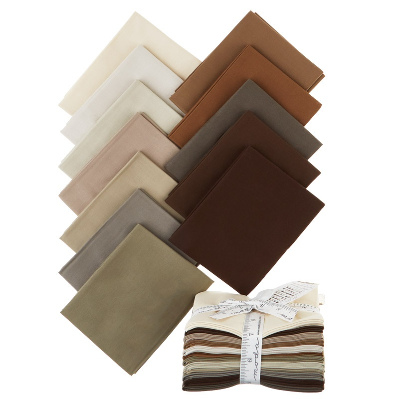 The Colors of Moda - Taupes Fat Quarter Bundle