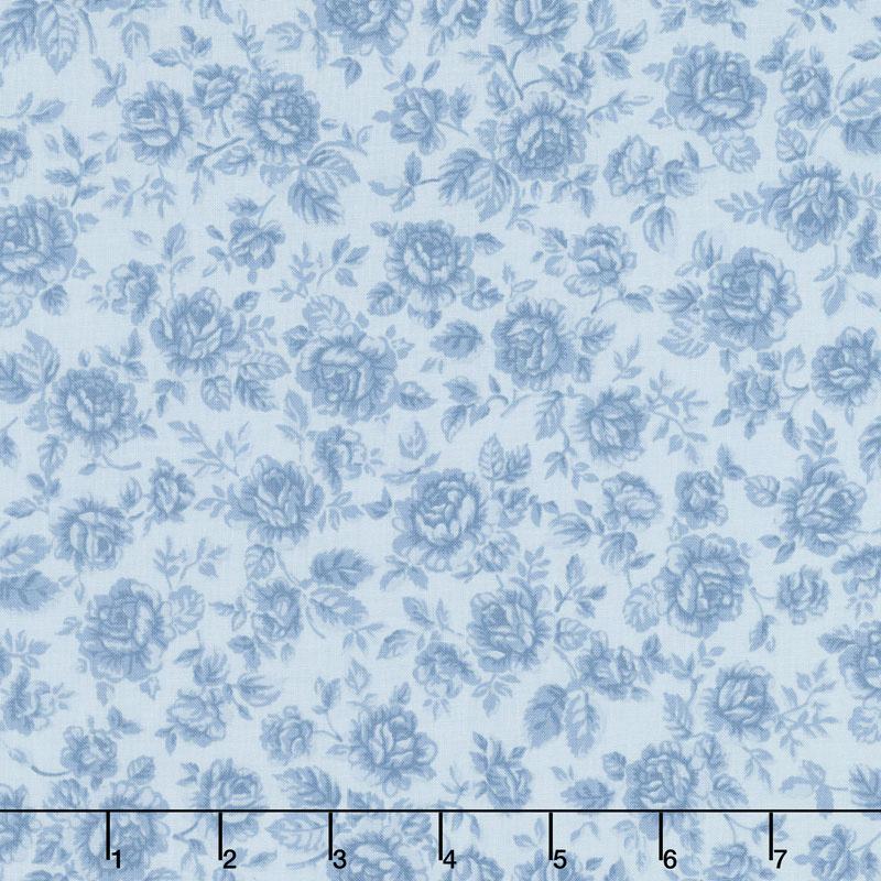 Robert Kaufman Eaton Place - Roses Blue Yardage