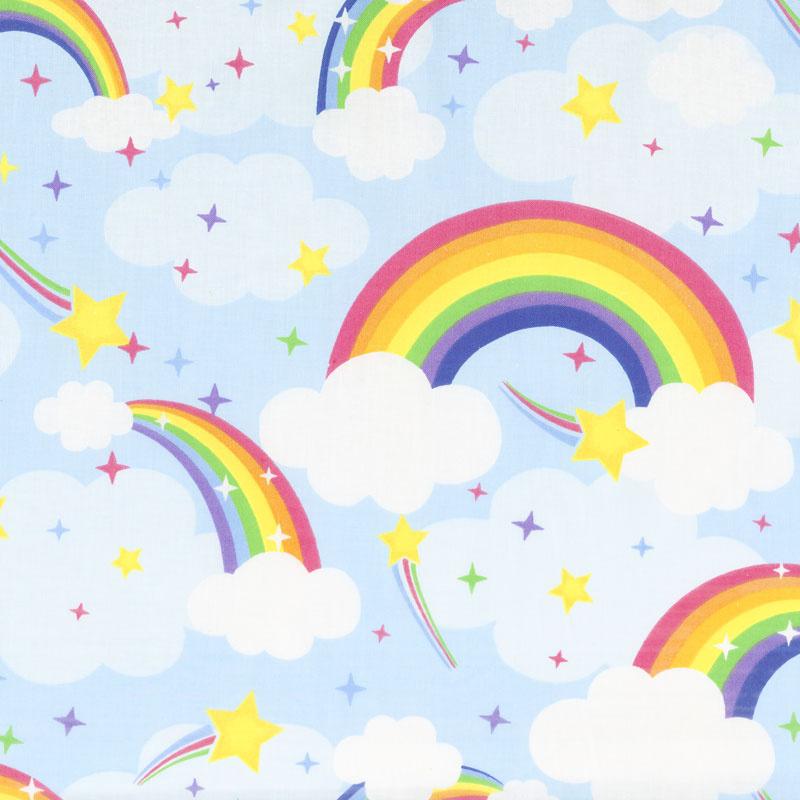 Emelia's Dream - 9418-11 Rainbows Light Blue