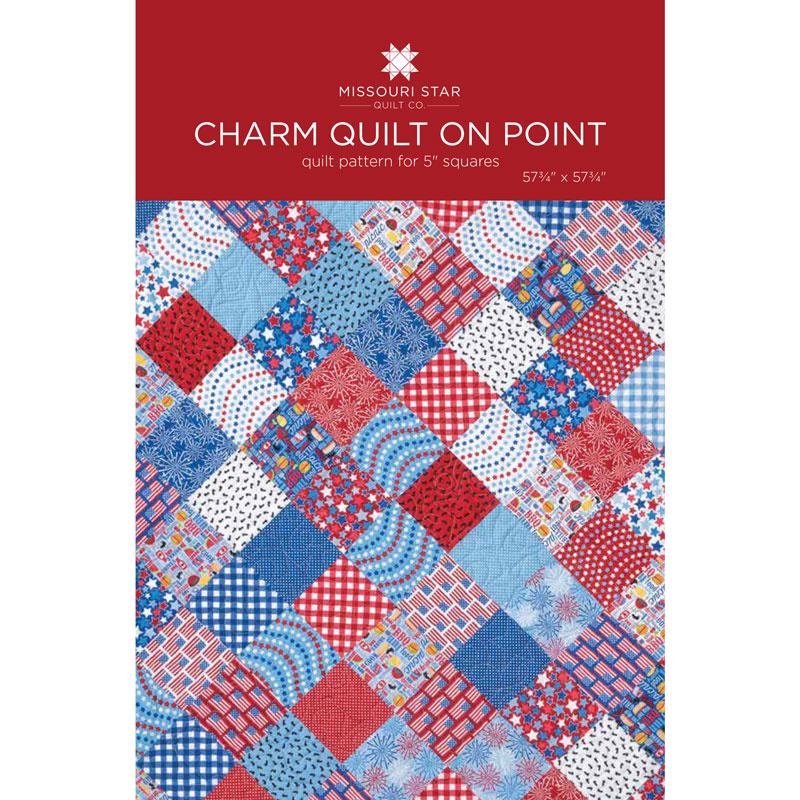 Charm Quilt on Point Quilt Pattern by MSQC