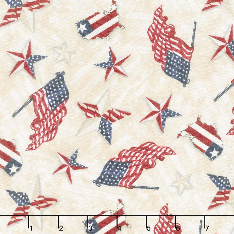 American Valor - Patriotic Toss Tan Yardage