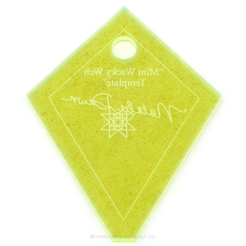 Missouri Star Mini Periwinkle (Wacky Web) Template for 2.5 Inch Charm Packs