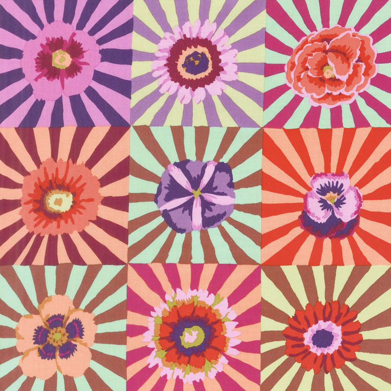 Kaffe Fassett Collective Fall 2017 - Sunrise Sunburst Pink Yardage