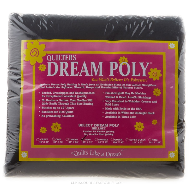 Quilters Dream Select Poly Packaged Batting - Black