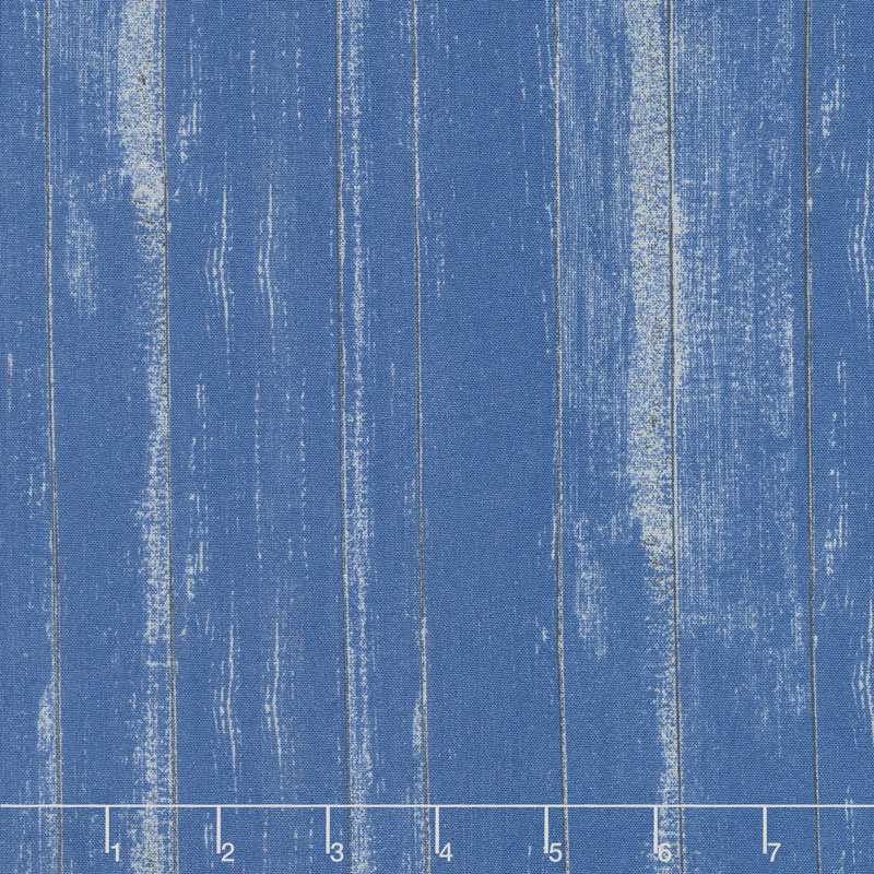 Lake Life - Wood Texture Blue Yardage
