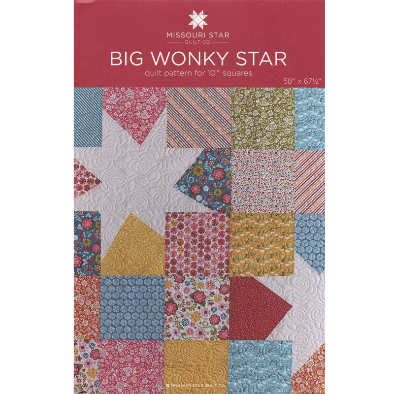 Big Wonky Star Quilt Pattern by MSQC