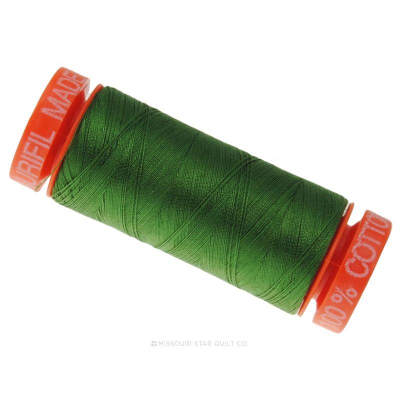 Aurifil 50 WT 100% Cotton Mako Small Spool - Very Dark Grass Green 5018
