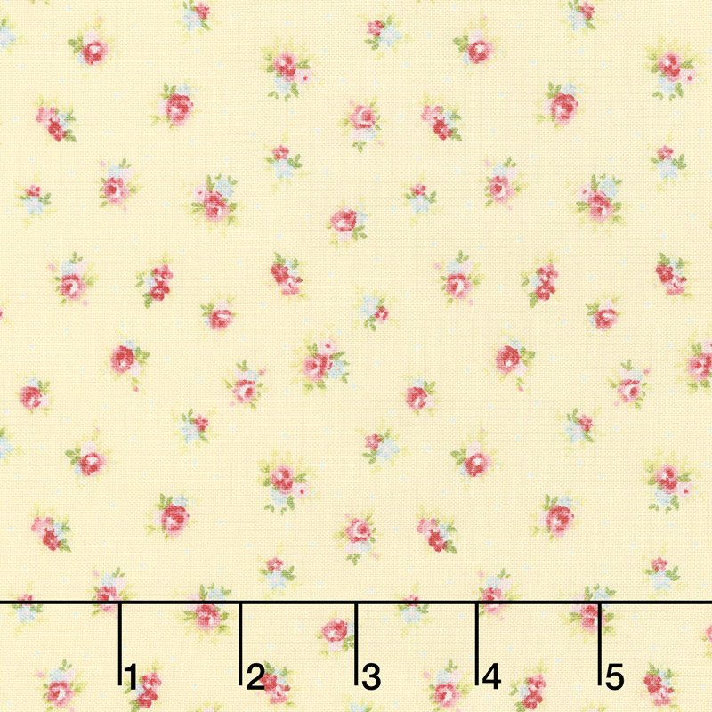 Amberley - Little Rose Polka Dot Sunshine Yardage