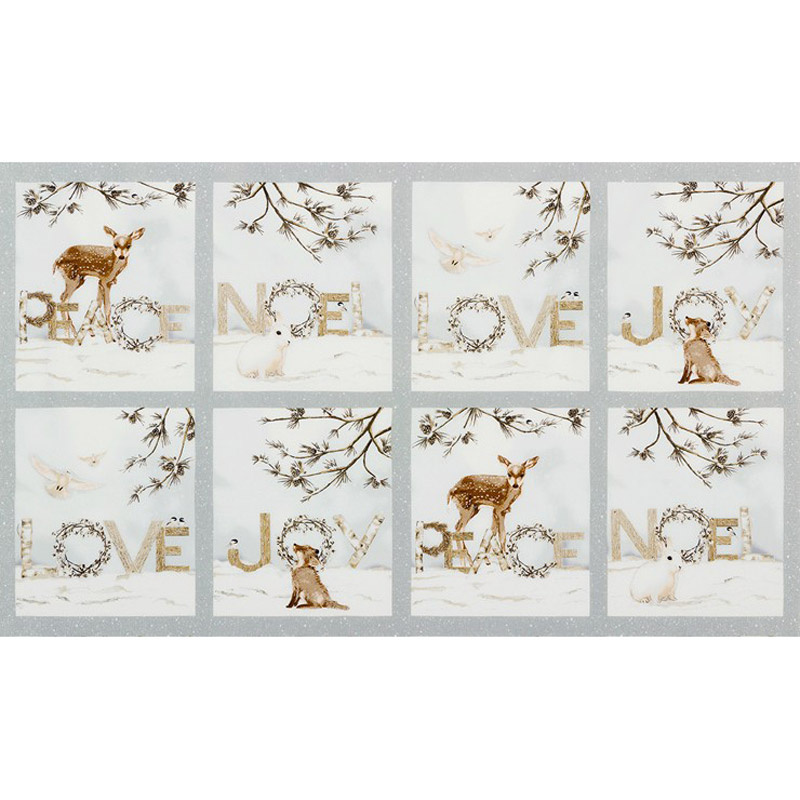 Winter White 3 -  Animals Ice Metallic Panel