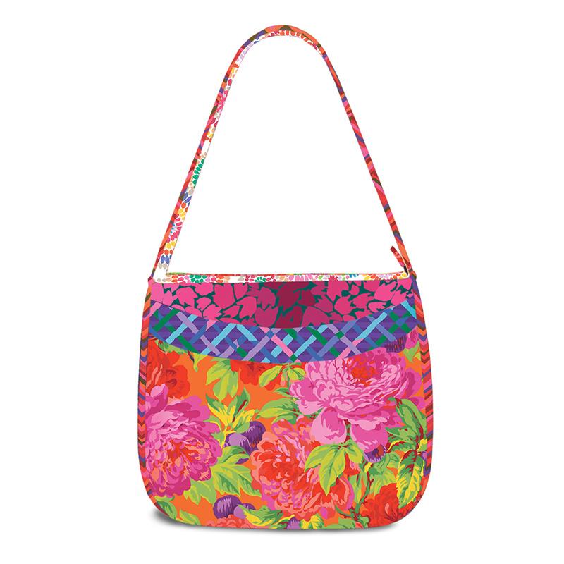 Laguna Sling Bag Kit by Pink Sand Beach Designs Featuring Kaffe Fassett Luscious