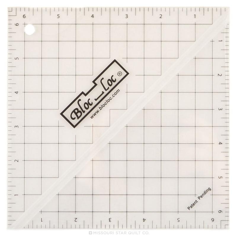 Bloc Loc 6 1/2 Inch Square Up Ruler
