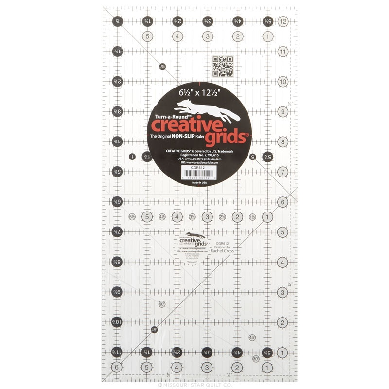 Creative Grids Quilt Ruler 6-1/2 Inch x 12-1/2 Inch