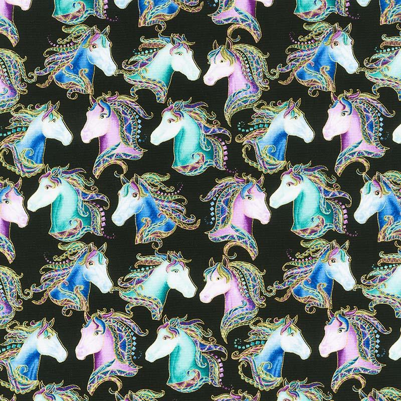 Horsen Around by Ann Lauer of Grizzly Gulch Gallery for Benartex
