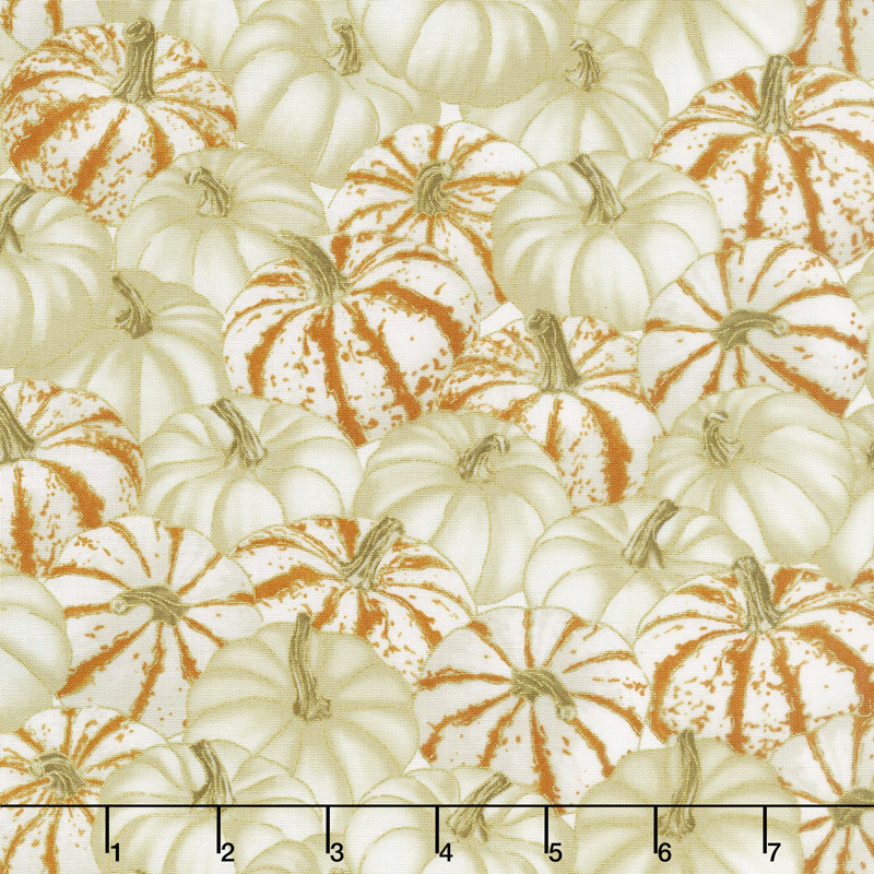 HARVEST FALL FOLIAGE CREAM PUMPKINS CM-6392