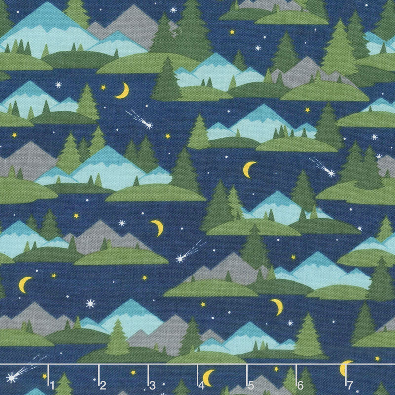 Gone Glamping! - Mountains and Trees Blue