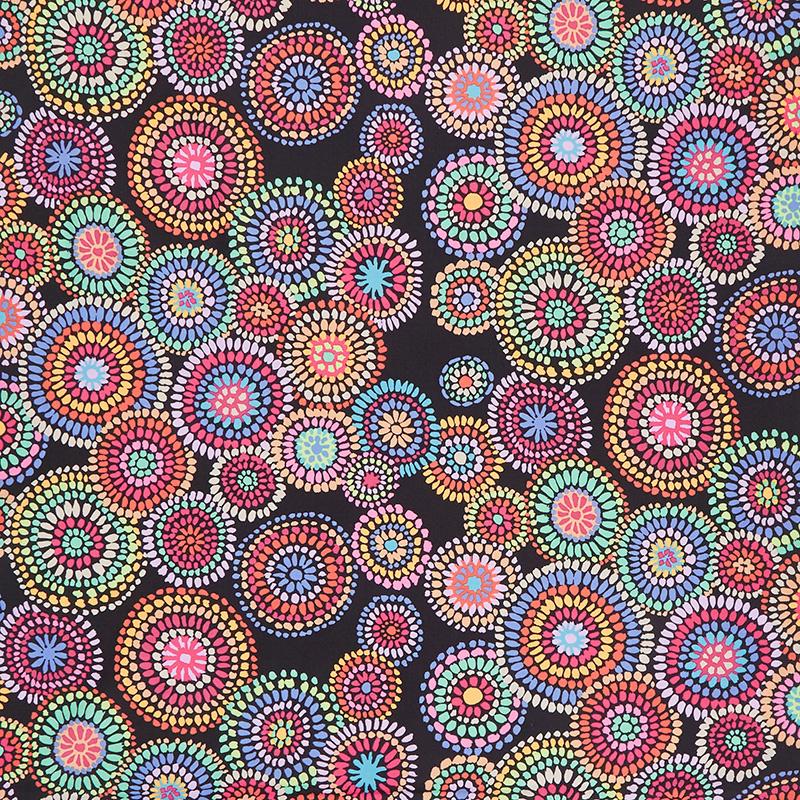 Mosaic Circles Black
