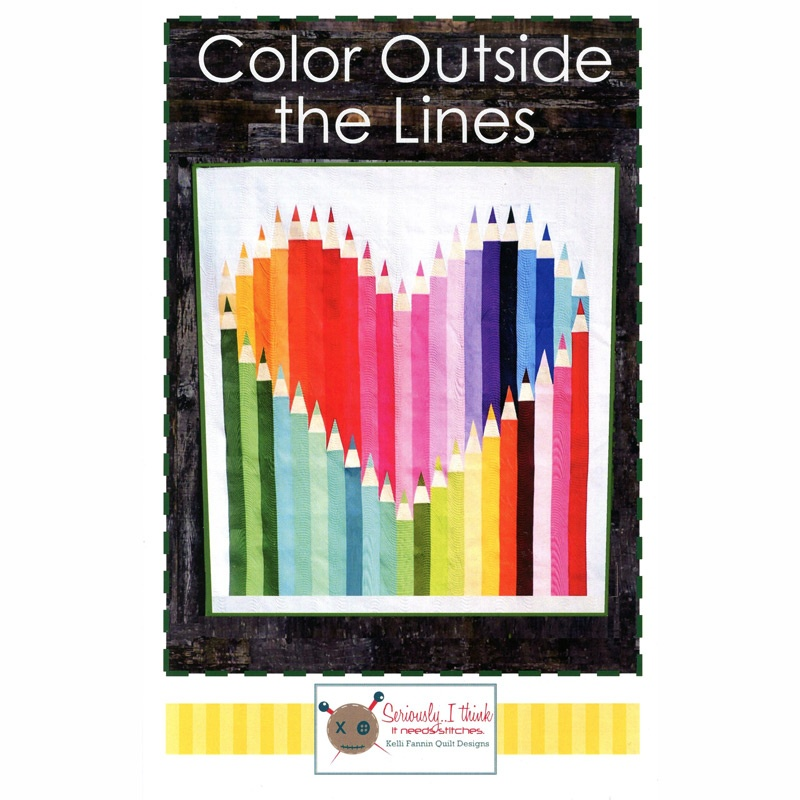Color Outside the Lines Pattern - Kelli Fannin Quilt Designs