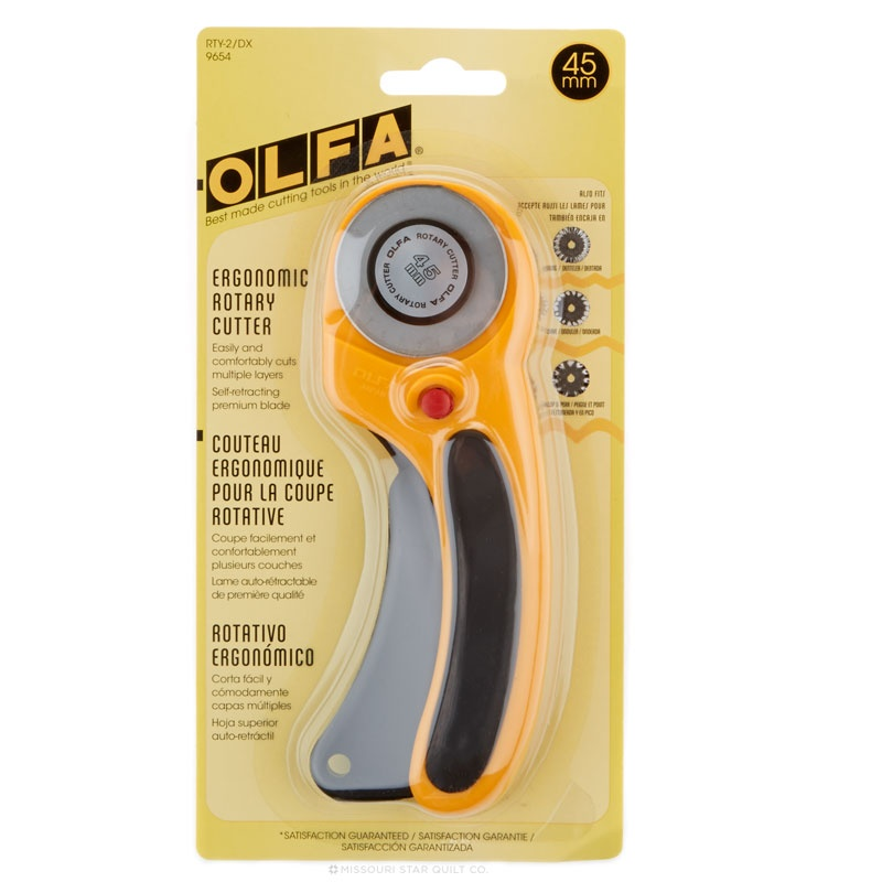 Olfa 45mm Deluxe Ergonomic Rotary Cutter