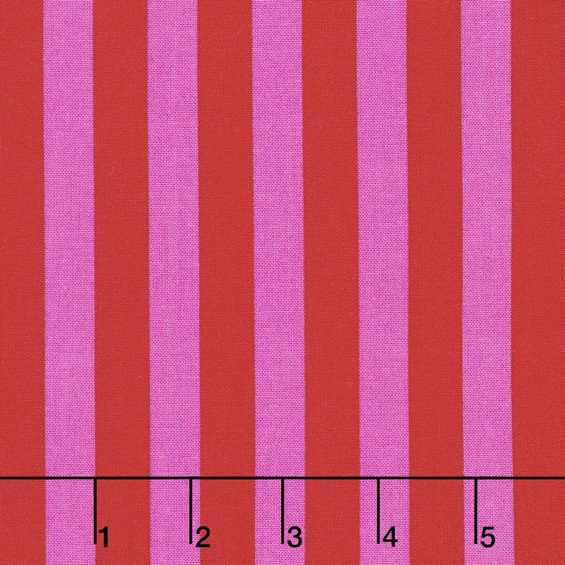 Tula Pink's All Stars - Pom Poms & Stripes Tent Stripe Peony PWTP069