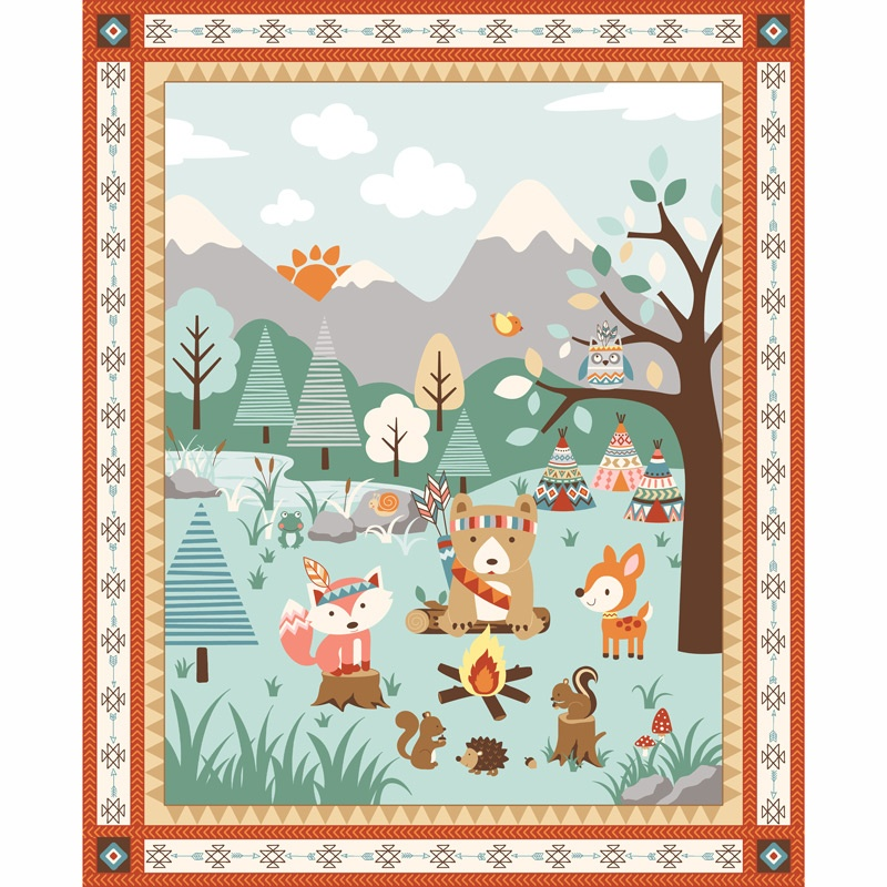 Camp - A - Long Critters - Scenic Light Green Panel