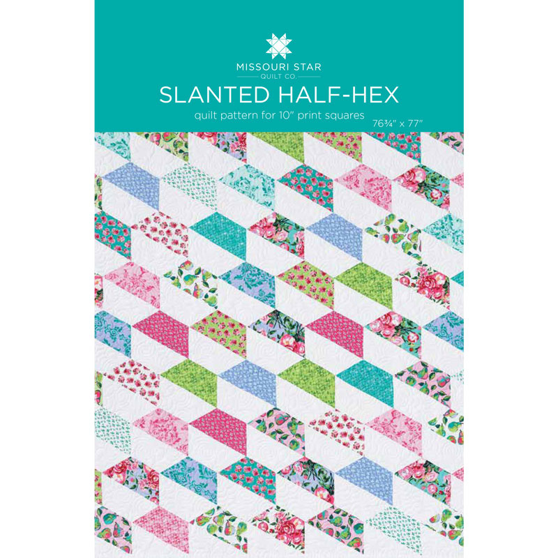 Slanted Half-Hex Quilt Pattern by MSQC
