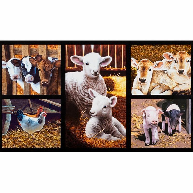 Robert Kaufman - Down on the Farm/Barn Animals Digital Panel - 23W