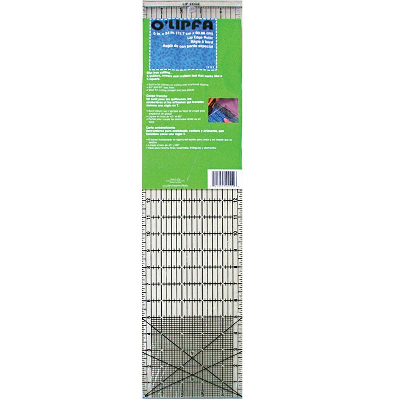 Lip Edge Ruler 5 X 24 Black