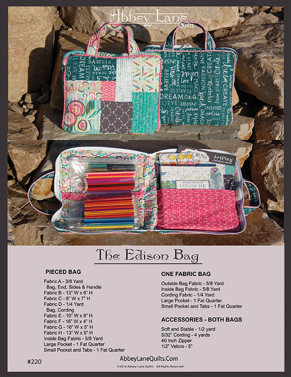 The Edison Bag Pattern