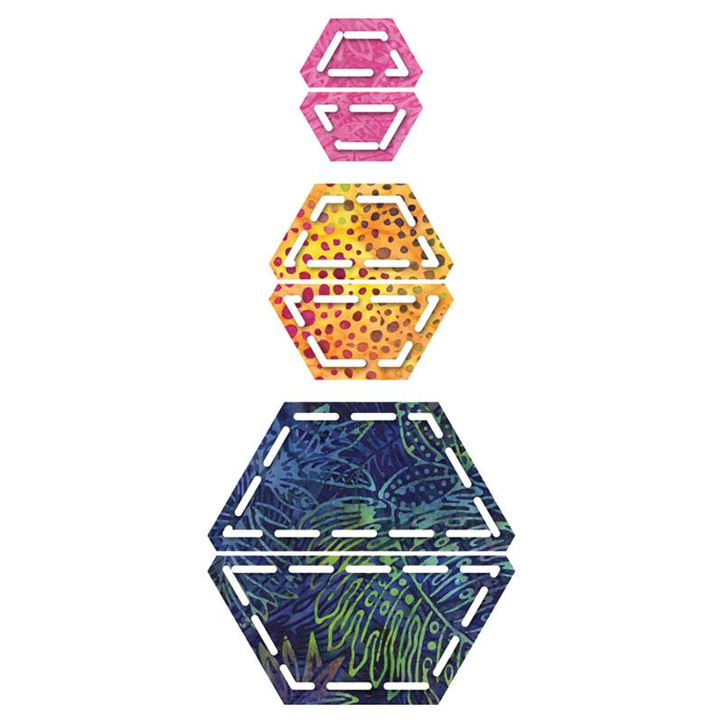 Go! Half Hexagon 1,1-1/2,& 2-1/2 Side 55165