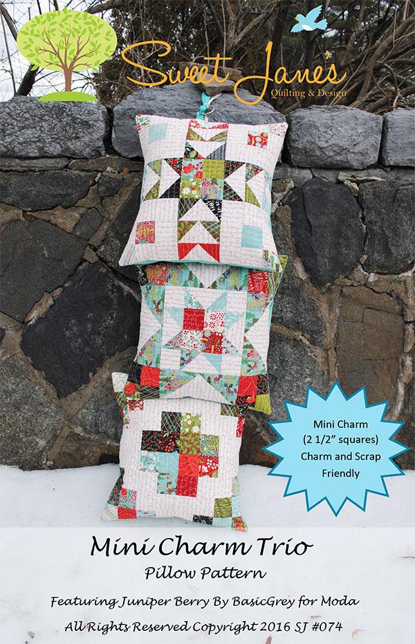 Mini Charm Trio Pillow Pattern