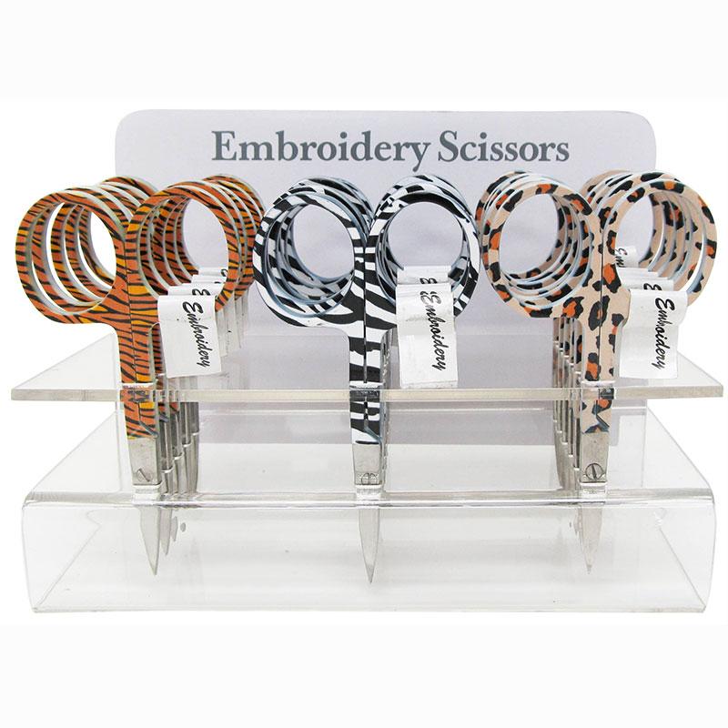 Emb. Scissor 3 W/Animal Skin