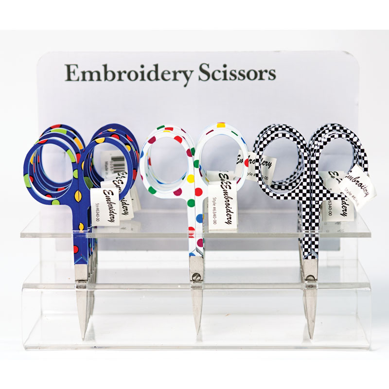 Embroidery Scissor 3 1/2 Sewing Notions Asst Colors