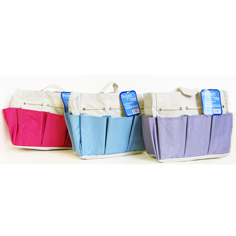 Craft Canvas Caddy - Blue, Green, or Pink