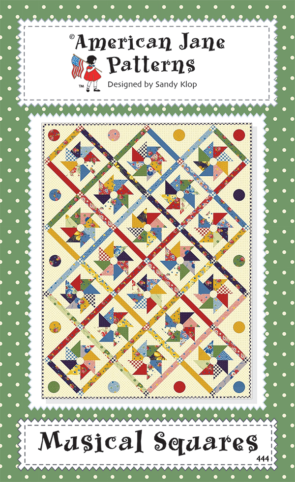 Musical Squares Quilt Kit (Includes backing fabric & quilt pattern)