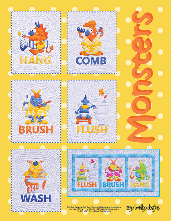 Monsters Quilt Pattern Set by Amy Bradley