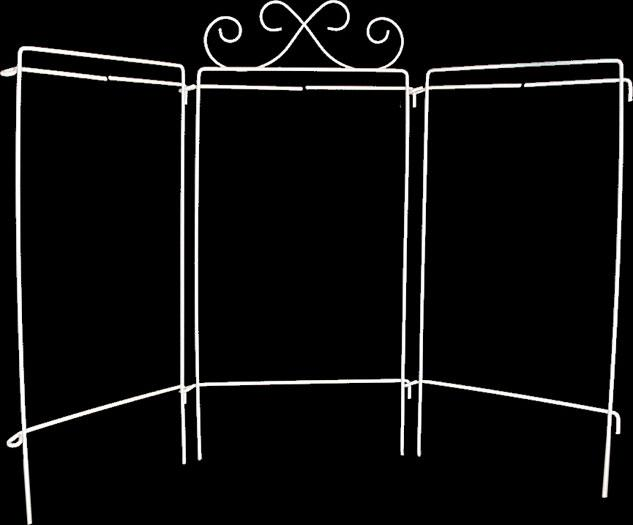 Ackfeld Scroll Tri stand Table Top 4 x 9