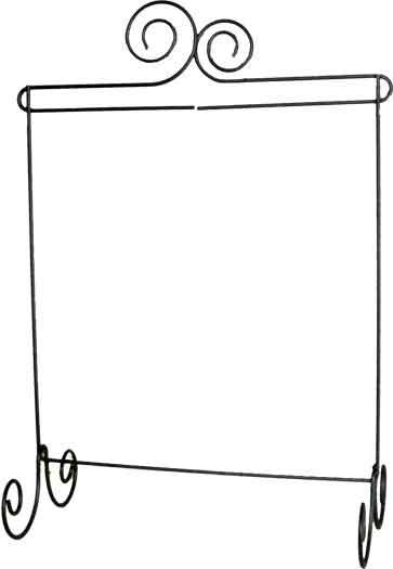 Double Scroll Stand 12 x 14